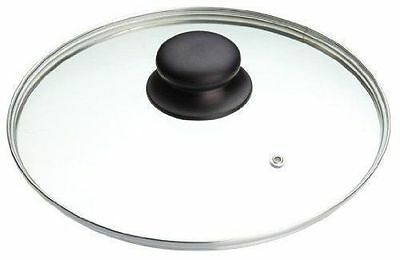 Replacement Vented Frying Fry Pan Saucepan Glass Lid Cover - Various Sizes 22-32