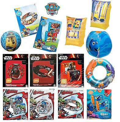 Paw Patrol/Dory/Avenger Swim Ring/ Arm band/ Beach Ball Kids Swimming Inflatable