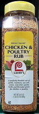 Lawry's Chicken/Poultry Seasoning & Rub ~ 24.5 oz ~ Perfect Blend, Free Shipping