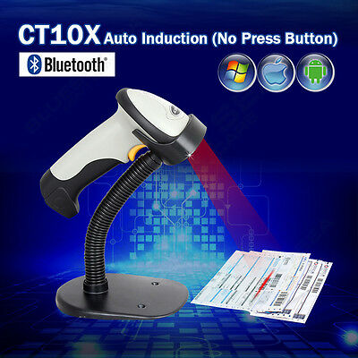 Holder+CT10 Bluetooth USB Wireless Barcode Scanner for Andriod Apple IOS Windows