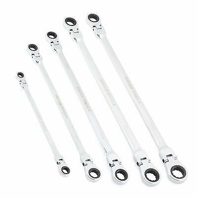 Double Box End Ratcheting Wrench | 5pc Metric Universal Spline XL Flexible Head