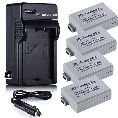 1800mAh LP-E5 LPE5 Battery For Canon Rebel Xs Xsi T1i 450D 1000D Kiss F +Charger