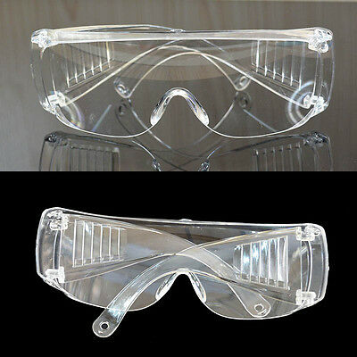 Eye Protection Protective Lab Anti Fog Clear Goggles Glasses Vented Safety A1F