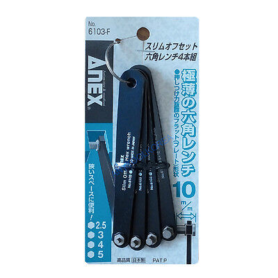 Ultra Low Profile Slim Offset Hex Wrench ANEX NO.6103-F