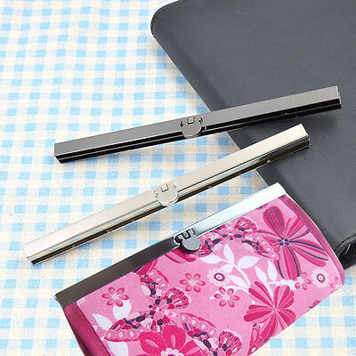 19cm Purse Wallet Frame Bar Edge Strip Clasp Openable Edge Replacement Alloy 1pc