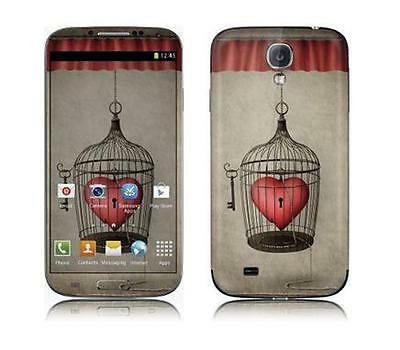 Skin Protector Kit F+R Per X Samsung Galaxy S4 Heart In A Cage *et*