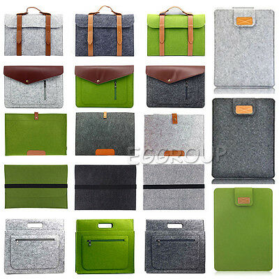 """For DELL 11"""" 13"""" 15"""" Notebook Laptop Various Woolen Sleeve Pouch Hand Bag Case"""