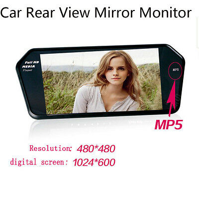 HD 7'' LCD Video Recorder Dash Cam Rearview Mirror Car Camera Monitor Cams New