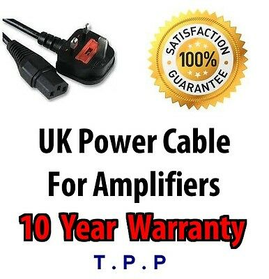 UK Mains Power Lead Cable Cord For Marshall Fender AMP Amplifier Guitar