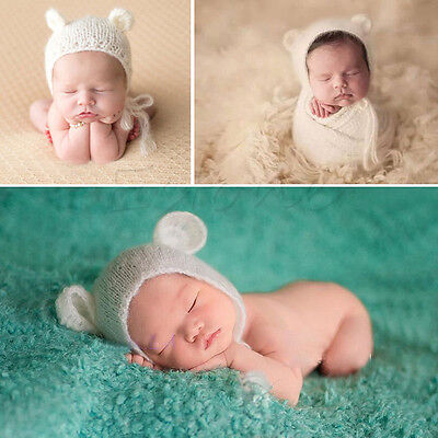 Baby Newborn Girls Boys Crochet Knit Costume Photo Photography Prop Outfits