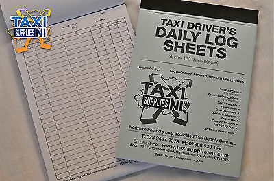 Taxi Driver Daily Log Books