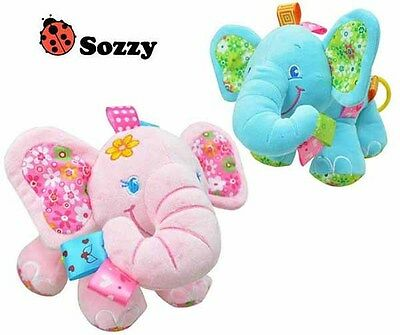 Sozzy Elephant Plush Cot Crib Hanging Musical Soft Baby Toy