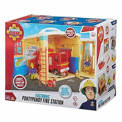 New Fireman Sam Electronic Pontypandy Fire Station Playset Toy With 2 Figures