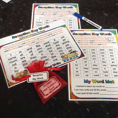 reception keywords learning set get ready for school flashcards posters resource