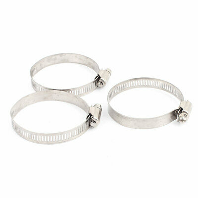 3 Pcs Metal Worm Drive Adjustable Pipe Ducting Hose Clamp Hoop 46-70mm