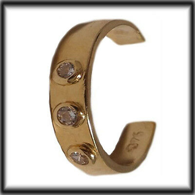 9ct Gold adjustable Toe ring set with 3 stones JTR09 Jewellery Company