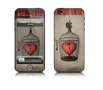 Skin Protector Kit F+R  Per Apple Iphone 5G Heart In A Cage *et*