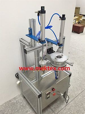 Pneumatic Manual Round Soap/Urinal Block Cake/Tea Pleat Packing Wrapping Machine