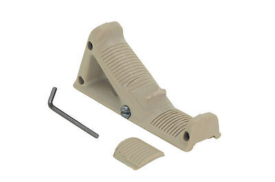 New Tactical Military Airsoft Angled Fore Grip Finger Shelf For AFG2 Dark Earth