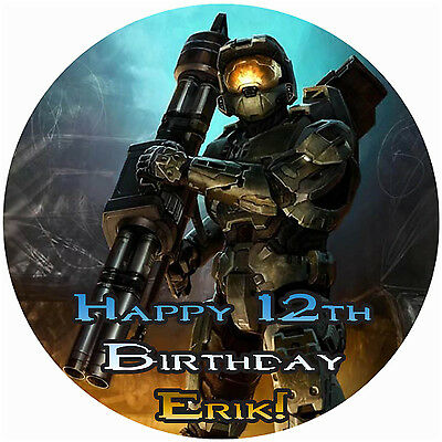 HALO 4 Edible CAKE Image Icing Topper Photo Frosting Sheet FREE SHIPPING