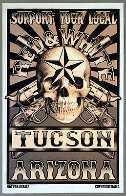 Hells Angels Tucson - SUPPORT RED AND WHITE 81 TUCSON Wild West Poster