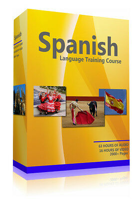 Learn to Speak Spanish - Extensive Language Training Course -Two PC CD-ROM's DVD