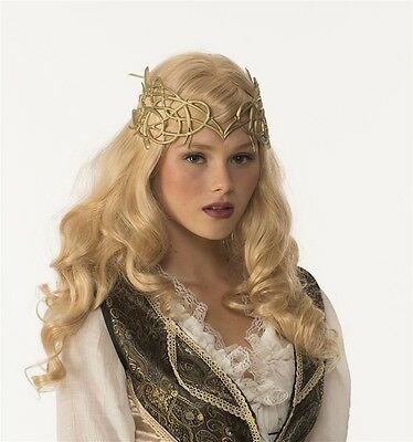 Medieval Crown with Ribbon Tie, Gold, Forum Novelties
