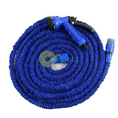 22.5M 75Ft 3X Expandable Flexible Garden Water Hose Jet Spray Nozzel Head