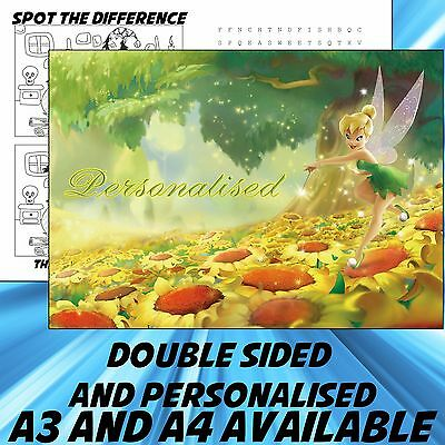 Childrens Tinkerbell Dinner Mat A4 / A3 sizes available Place Mat
