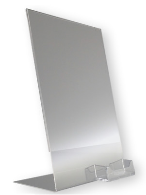 12 Clear acrylic 8.5x11 display sign holder w business card holder wholesale lot