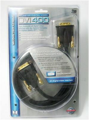 Monster 2 Metre DVI 400 Digital Video Cable 24K Gold Plated Connectors for HDTV