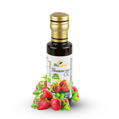 Certified Organic Cold Pressed Strawberry Seed Oil 100ml Biopurus
