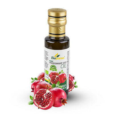 Certified Organic Cold Pressed Pomegranate Seed Oil 100ml Biopurus