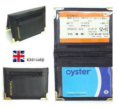 High Quality TRAVEL CARD HOLDER Credit Bank Oyster ID Wallet +ZIPPED COIN POCKET