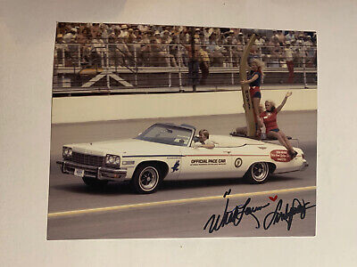Linda Vaughn Signed Indy 500 8 X 10 Car Photo Autograph Indianapolis Miss Hurst