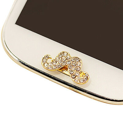 Bling Rhinestone Home Button Sticker for Samsung Galaxy S3 S4 S5 Note 2 3 DT
