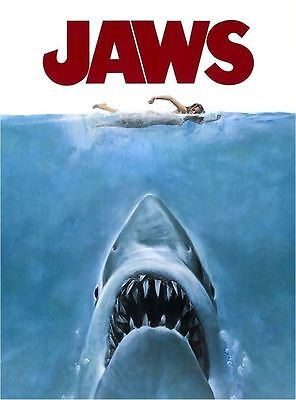 Jaws Shark The Movie Iron On T Shirt / Pillowcase Fabric Transfer #1