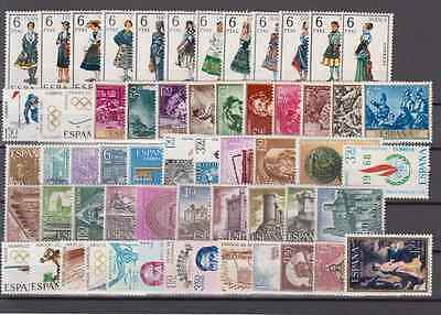 Spain - Year 1968 Mnh Complete With Regional Costumes - 59 Stamps