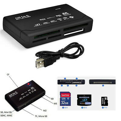 External USB 2.0 Picture Memory Card Reader Multi All in 1 SD MS MMC MS Pro