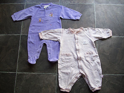 Baby Girl's Coverall/Onesie/Sleeper x 2 Incl Pumpkin Patch Size 0 VGUC