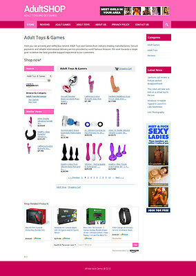 Adult Toys & Games Affiliate Store - Online Business Website For Sale
