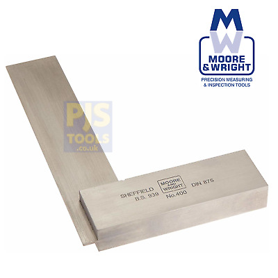 Moore and Wright 400 4in 100mm grade B engineers square 4004 MAW4004
