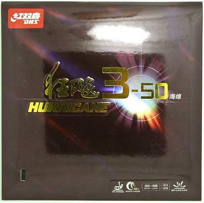 DHS Hurricane 3-50  table tennis rubber/ ping pong rubber  1 black