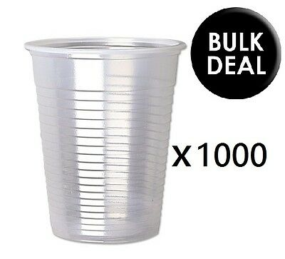 1000 x CLEAR Plastic 7oz Disposable Cups Drinking Glass Vending Style Cup