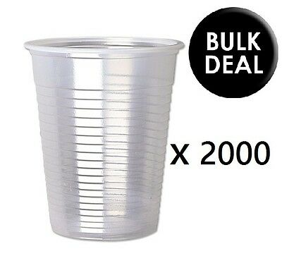 Plastic Disposable White Cups 7oz//180ml 8cm Drinking Glass for Vending Machine