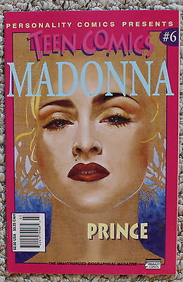 Teen Comics #6 MADONNA with PRINCE Rogers Nelson Personality Biography 3/1993 VF