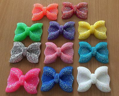 Large Sparkly Bows Flatback Resin Embellishments Bow Card Craft Beads NEW