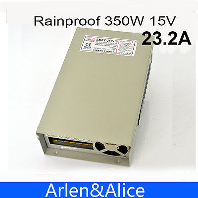 350W 15V 23.2A Rainproof outdoor Single Output Switching power supply for LED