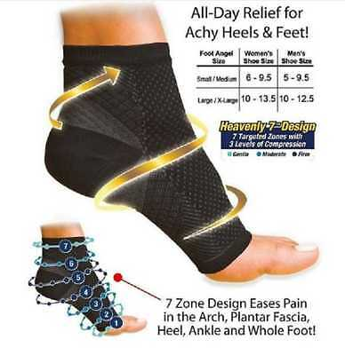 Foot Angel Anti-Fatigue Ankle-Foot Compression Socks (FCTC80FA)