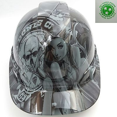 Hard Hat custom hydro dipped , OSHA approved BAD BONES CLUB NEW HARD HAT